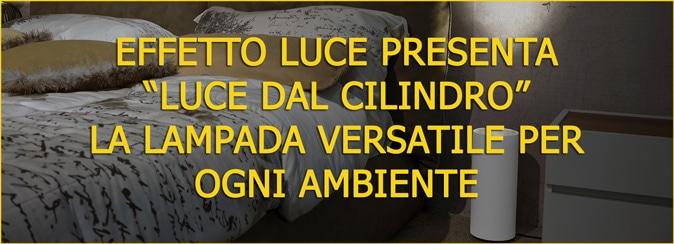 Banner prodotto Luce dal cilindro by effettoluce lampada da terra